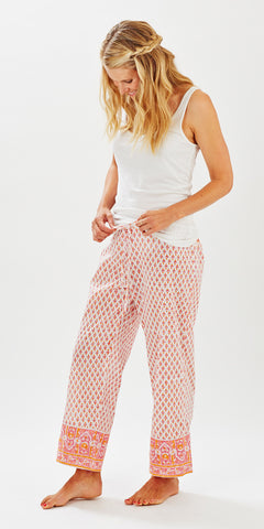 LOUNGE PANTS GEO PUNCH - Rikshaw Design - 1