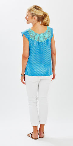 CROCHET TOP MINI BOOTI SKY BLUE - FINAL SALE - Rikshaw Design - 3