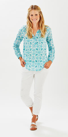 POET TOP MOSAIC MINT - FINAL SALE - Rikshaw Design - 1