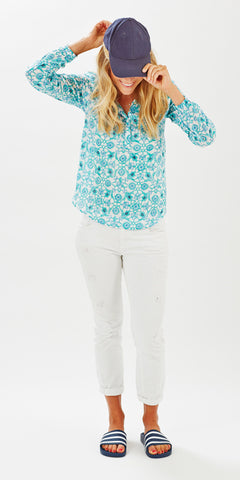 POET TOP MOSAIC MINT - FINAL SALE - Rikshaw Design - 3