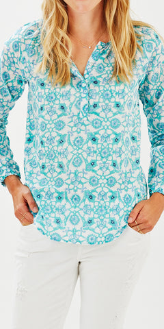 POET TOP MOSAIC MINT - FINAL SALE - Rikshaw Design - 2
