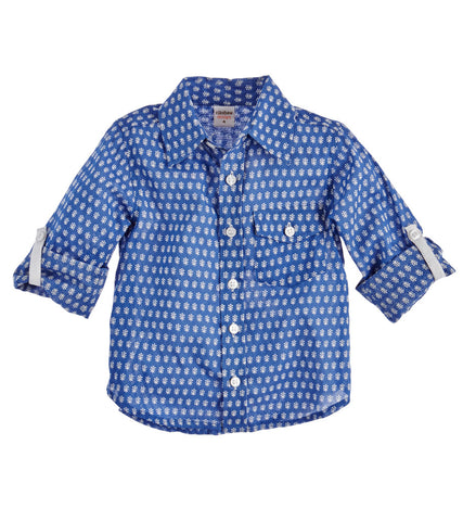 BOY'S BUTTON DOWN SHIRT MINI BOOTI DENIM - FINAL SALE - Rikshaw Design - 2