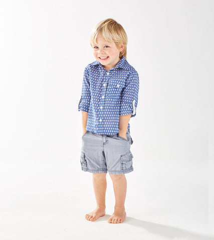 BOY'S BUTTON DOWN SHIRT MINI BOOTI DENIM - FINAL SALE - Rikshaw Design - 1