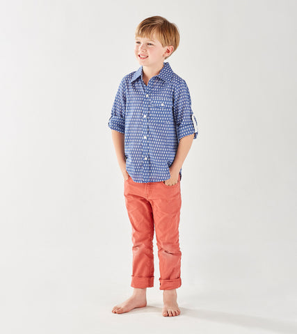 BOY'S BUTTON DOWN SHIRT MINI BOOTI DENIM - FINAL SALE - Rikshaw Design - 4