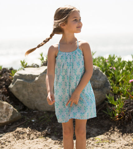 CRISS-CROSS SUNDRESS LOBSTER MINERAL - Rikshaw Design - 1