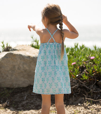 CRISS-CROSS SUNDRESS LOBSTER MINERAL - Rikshaw Design - 3