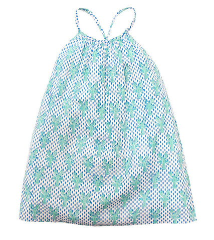 CRISS-CROSS SUNDRESS LOBSTER MINERAL - Rikshaw Design - 2