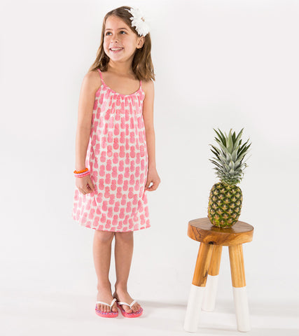 ZOE CRISS-CROSS SUNDRESS PINEAPPLE PINK