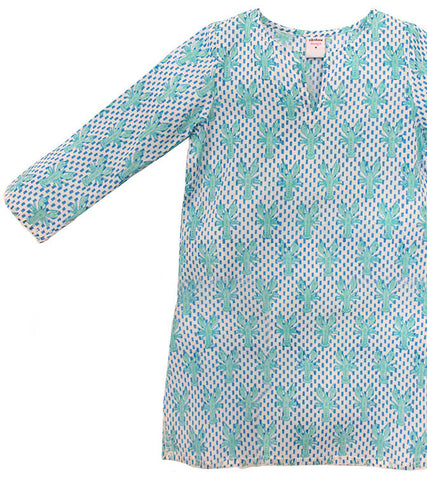 LONG SLEEVE COVER-UP KURTA LOBSTER MINERAL - Rikshaw Design - 2