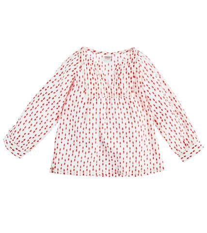 CHILDREN'S TUXEDO KURTA POLKA DOT NANTUCKET RED - FINAL SALE - Rikshaw Design - 3