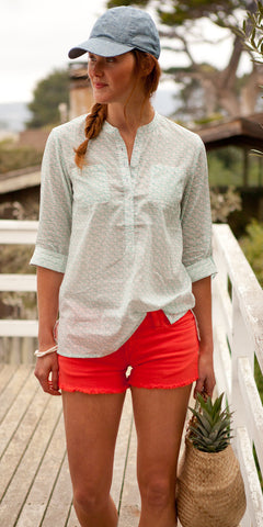 CAMP SHIRT WAVES TURQUOISE - FINAL SALE - Rikshaw Design - 1