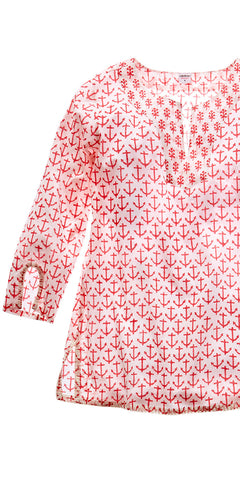 CLASSIC KURTA ANCHOR RASPBERRY - FINAL SALE