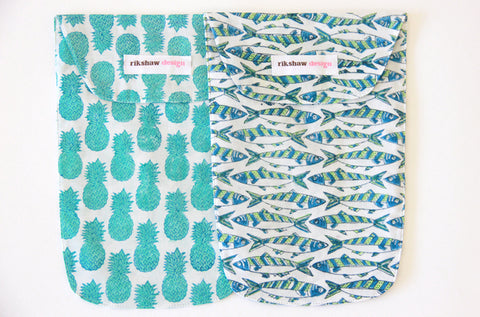 DIAPER POUCHES SARDINE/PINEAPPLE LIME - FINAL SALE