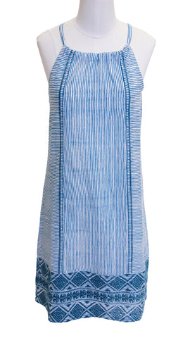 MARGOT EMBROIDERED DRESS STRIPE STORMY