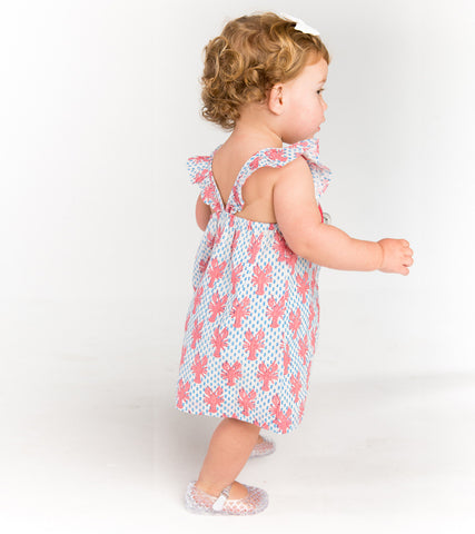 HADLEY SUNDRESS - LOBSTER CORAL
