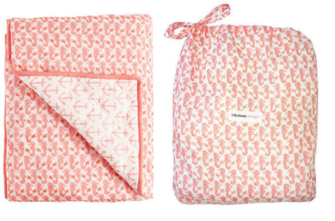 PLAY BLANKET NAUTICAL LT PINK - Rikshaw Design - 1