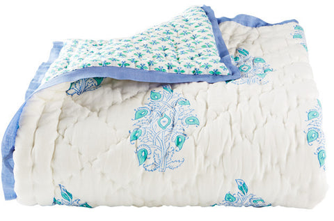 TODDLER QUILT MAYOOR TURQUOISE - Rikshaw Design - 1