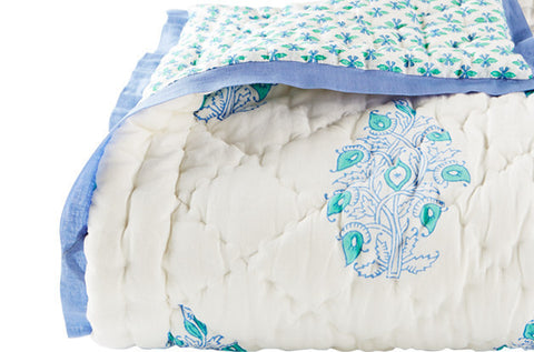 TODDLER QUILT MAYOOR TURQUOISE - Rikshaw Design - 2