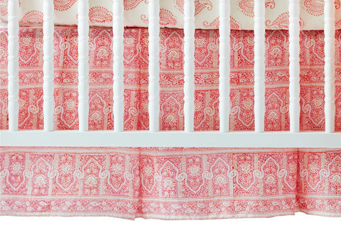 CRIB SKIRT PALACE PINK - Rikshaw Design - 1