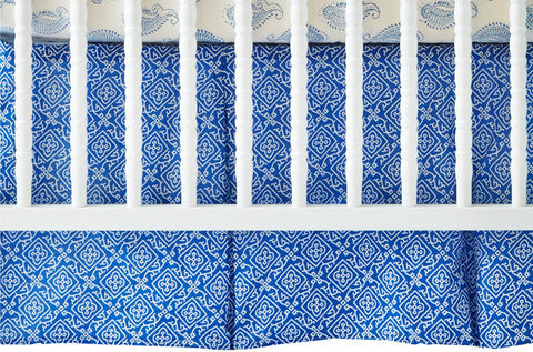 CRIB SKIRT MOROCCAN BLUE - Rikshaw Design - 1