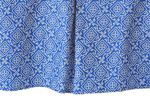 CRIB SKIRT MOROCCAN BLUE - Rikshaw Design - 2
