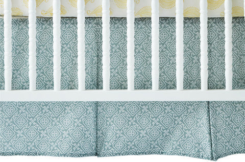 CRIB SKIRT MOROCCAN GREY - Rikshaw Design - 1