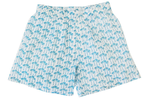 BOXERS PALM TREE TURQUOISE - Rikshaw Design - 1