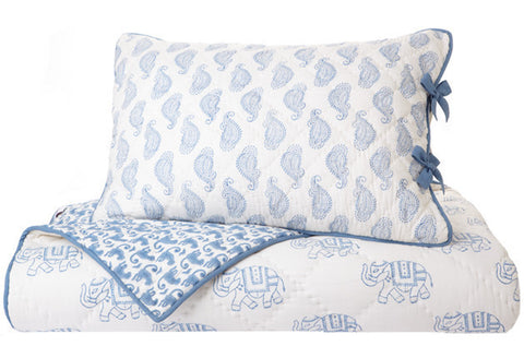 TWIN QUILT TAJ BLUE - Rikshaw Design - 1