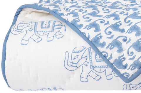 TWIN QUILT TAJ BLUE - Rikshaw Design - 2