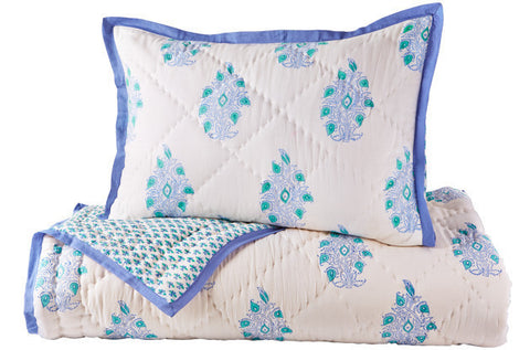 TWIN QUILT MAYOOR TURQUOISE - Rikshaw Design - 1
