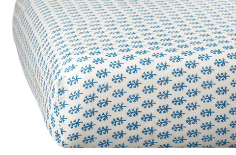 CRIB SHEET BOOTI BLUE - Rikshaw Design