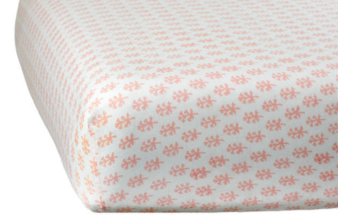 CRIB SHEET BOOTI PINK - Rikshaw Design