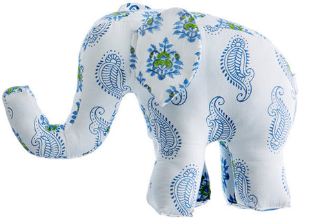 PATCHWORK ELEPHANT TAJ BLUE - Rikshaw Design - 1
