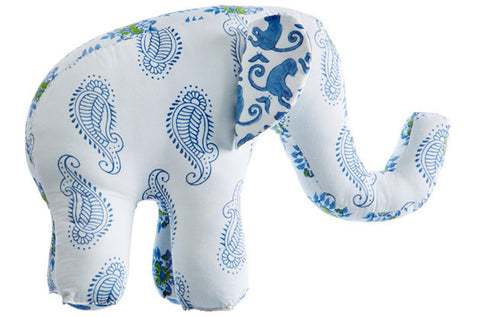 PATCHWORK ELEPHANT TAJ BLUE - Rikshaw Design - 2