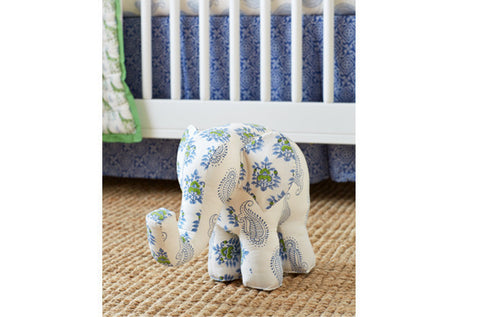 PATCHWORK ELEPHANT TAJ BLUE - Rikshaw Design - 3