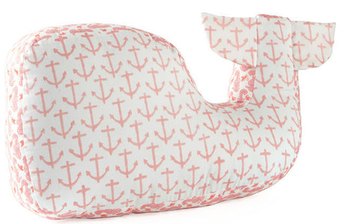 WHALE PILLOW LT PINK - Rikshaw Design - 1