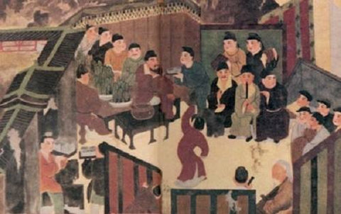 banquet of Chinese traditional scholars