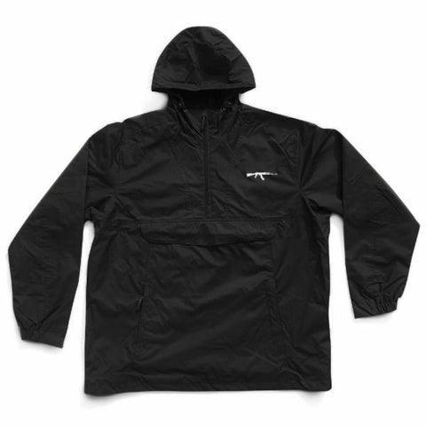 AK Logo Embroidered Anorak (black)
