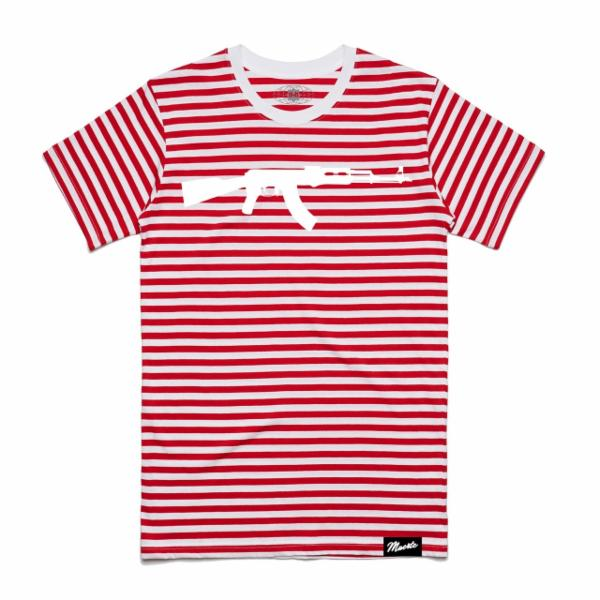 AK Stripe Tee Red/White