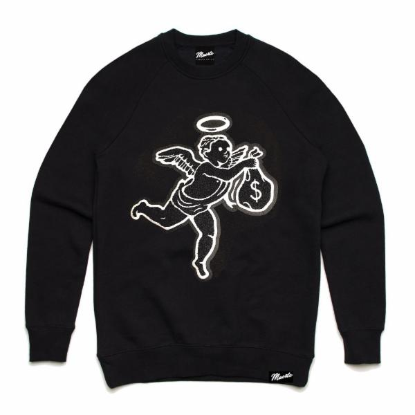 Angel Classic Chenille Patch Crewneck