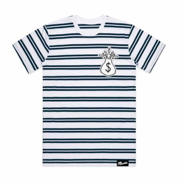 Striped Money Bag Chenille Tee