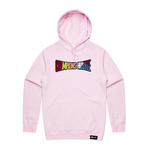 Cotton Candy Pink Champions Hustle Chenille Patch Hoodie