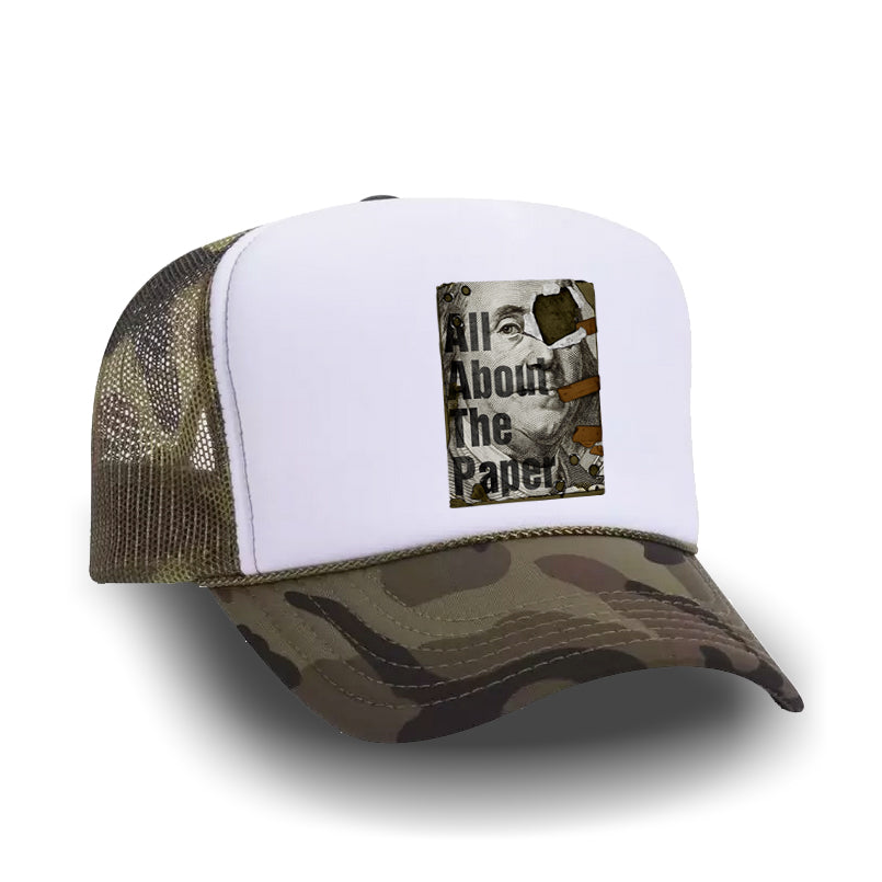 ALL ABOUT THE PAPER TRUCKER HAT