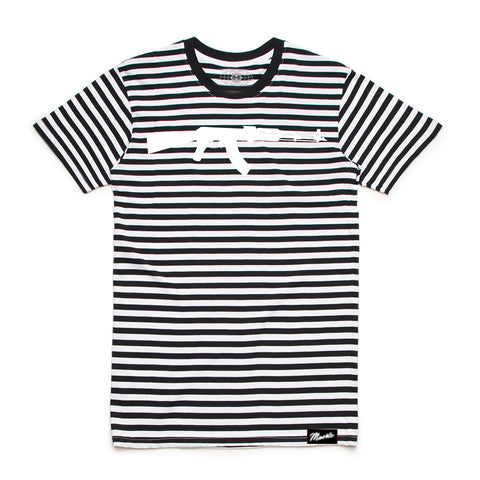 AK Stripe Tee Black/White