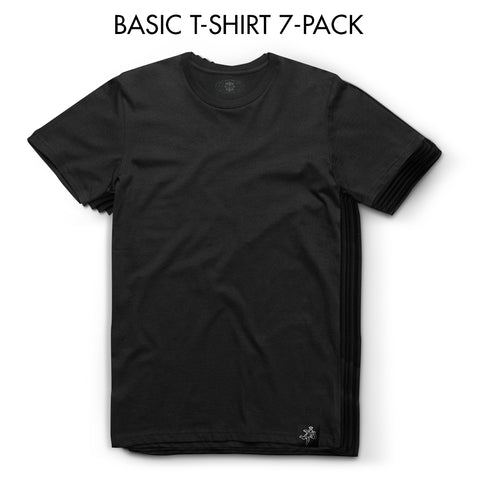 7-Pack - Black Tee - Basic