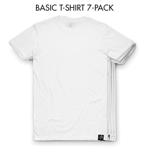 7-Pack - White Tee - Basic