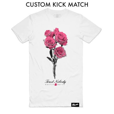 Barbed Roses - Custom Shoe Match (White)