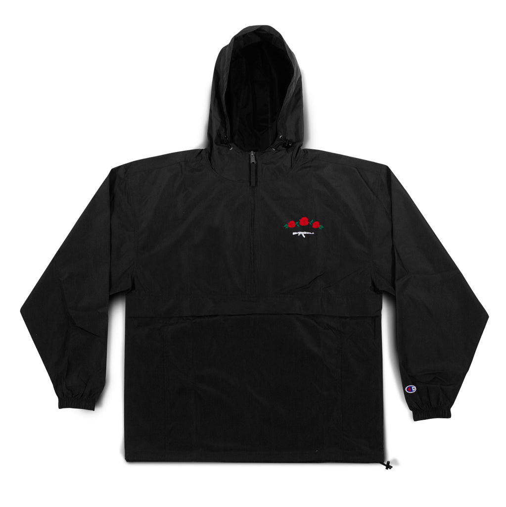 Champion Rose Seal Embroidered Anorak - Black