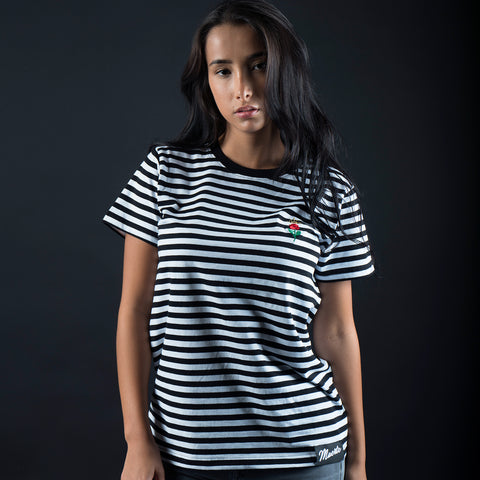 Rose Stripe Tee