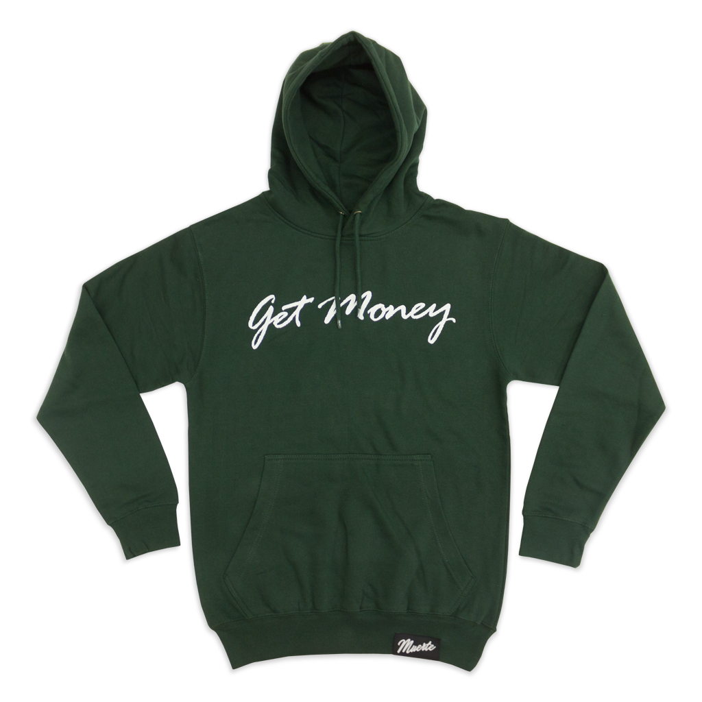 Green Get Money Script Hoody (Cyber Week Exclusive)